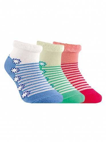 children's cotton socks SOF-TIKI (terry, with lapel) 6С-19СП, размер 12, цвет cream-light green
