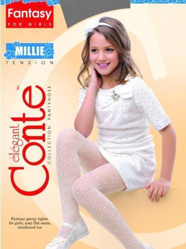 Children's polyamide tights MILLIE 14С-6СП, размер 104-110, цвет bianco
