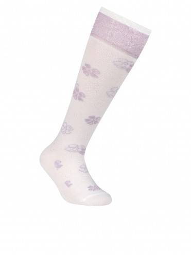 Children's cotton knee-highs TIP-TOP (lurex) 7С-71СП, размер 18, цвет lilac