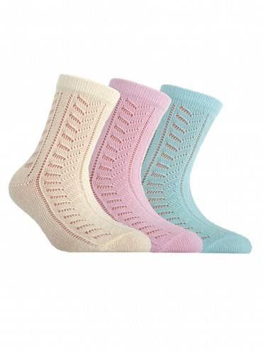 Children's cotton socks MISS (openwork) 7С-76СП, размер 20, цвет light pink