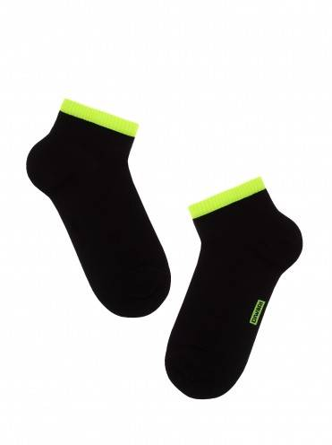 Men's socks ACTIVE (anklets) 7С-37СП, размер 25, цвет black-lettuce green