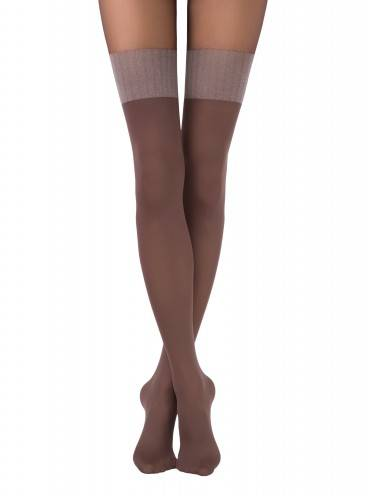 women's polyamide tights TWICE 14С-97СП, размер 2, цвет chocolate