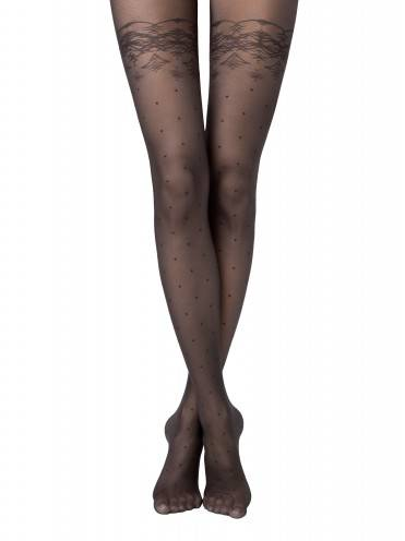 women's polyamide tights AMATO 14С-46СП, размер 2, цвет nero