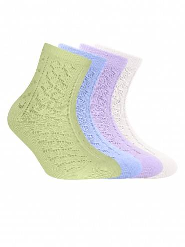 Children's cotton socks MISS (openwork) 7С-76СП, размер 20, цвет pale violet