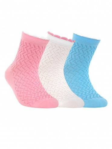 Children's cotton socks TIP-TOP (picot) 7С-28СП, размер 20, цвет light pink