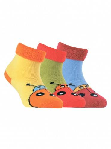 children's cotton socks SOF-TIKI (terry, with lapel) 6С-19СП, размер 14, цвет blue