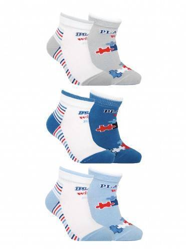 children's cotton socks TIP-TOP (2 pairs) 7С-91СП, размер 12, цвет white-grey