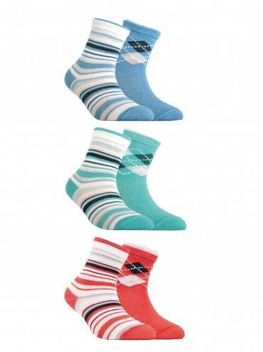Children's cotton socks TIP-TOP (2 pairs) 7С-91СП, размер 14, цвет turquoise
