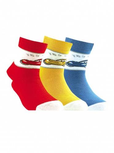 children's cotton socks SOF-TIKI (terry) 7С-46СП, размер 14, цвет red