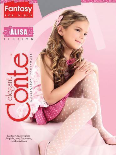 children's polyamide tights ALISA 8С-101СП, размер 104-110, цвет bianco