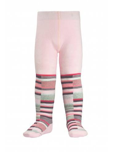 children's cotton tights SOF-TIKI (terry inside) 7С-38СП, размер 62-74, цвет light pink