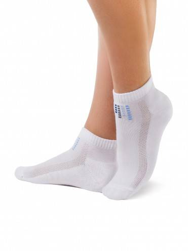 women's cotton socks ACTIVE (anklets, terry foot) 7С-41СП, размер 23, цвет white