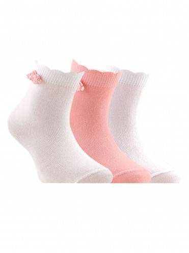 Children's cotton socks TIP-TOP (décor, flowers) 7С-50СП, размер 12, цвет white