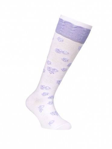 children's cotton knee-highs TIP-TOP (lurex) 7С-71СП, размер 20, цвет lilac