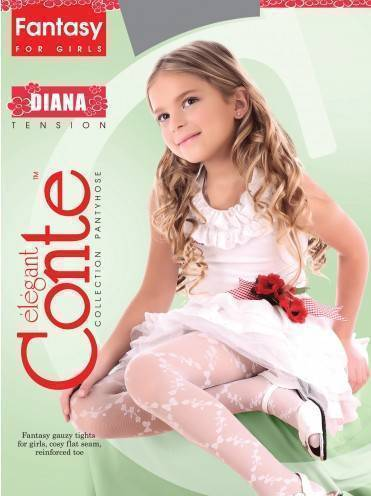 Children's polyamide tights DIANA 8С-101СП, размер 104-110, цвет pink