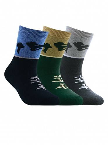 Children's cotton socks SOF-TIKI (terry) 7С-46СП, размер 20, цвет dark green
