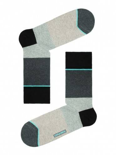 men's socks HAPPY (with pattern) 15С-23СП, размер 25, цвет dark grey-turquoise