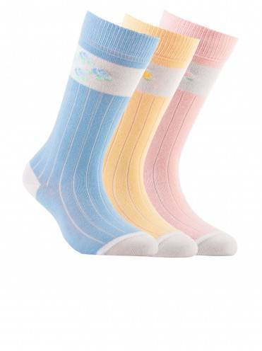 Children's cotton knee-highs TIP-TOP 7С-21СП, размер 14, цвет light yellow