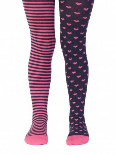 Children's cotton tights TIP-TOP (cheerful legs) 14С-79СП, размер 62-74 (12), цвет navy-pink