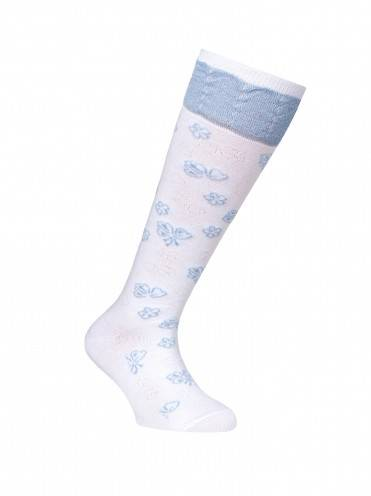 Children's cotton knee-highs TIP-TOP (lurex) 7С-71СП, размер 20, цвет light blue