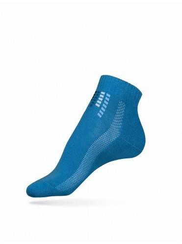 women's cotton socks ACTIVE (anklets, terry foot) 7С-41СП, размер 23, цвет blue