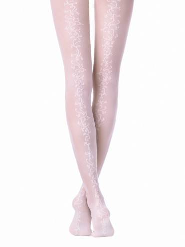 Women's polyamide tights GLORY 15С-54СП, размер 2, цвет bianco