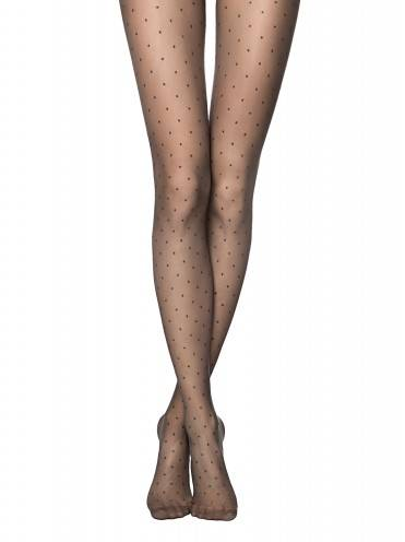 women's polyamide tights DOTS 14С-48СП, размер 2, цвет chocolate
