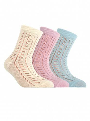 Children's cotton socks MISS (openwork) 7С-76СП, размер 16, цвет light pink