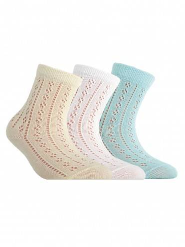 children's cotton socks MISS (openwork) 7С-76СП, размер 12, цвет white