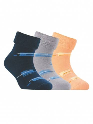 Children's cotton socks SOF-TIKI (terry, with lapel) 6С-19СП, размер 20, цвет peach