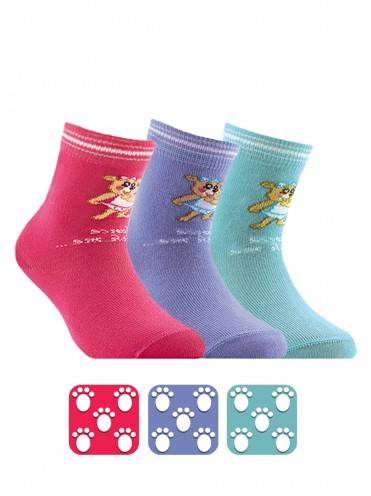 children's cotton socks TIP-TOP (antislip) 7С-54СП, размер 12, цвет turquoise