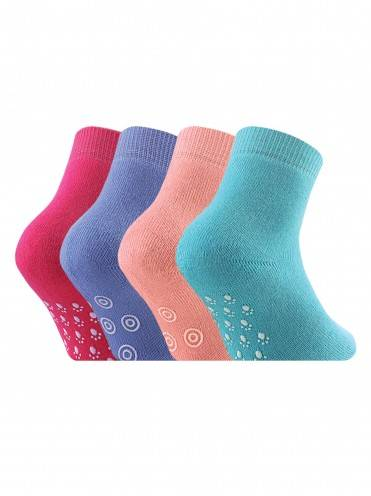 Children's cotton socks SOF-TIKI (terry, antislip) 7С-53СП, размер 12, цвет turquoise