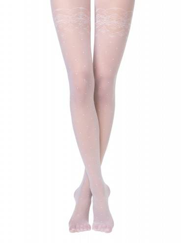 women's polyamide tights AMATO 14С-46СП, размер 2, цвет bianco