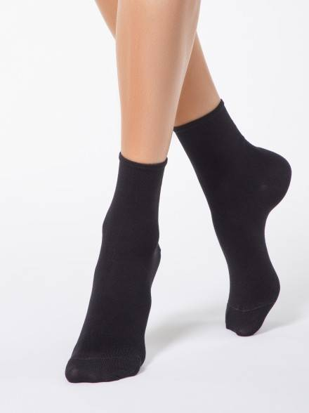 women's viscose socks BAMBOO 13С-84СП, размер 23, цвет black