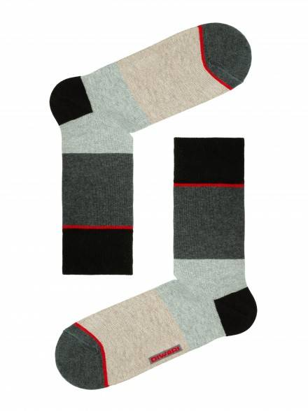 men's socks HAPPY (with pattern) 15С-23СП, размер 25, цвет dark grey-wine coloured
