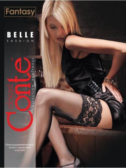 women's stockings CONTE ELEGANT BELLE - CLASS 20 8С-90СП, размер 23-25 (1-2), цвет bianco