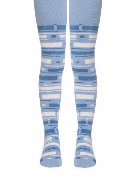 children's cotton tights SOF-TIKI (terry inside) 7С-38СП, размер 128-134 (20), цвет blue