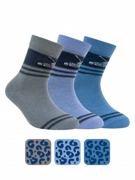 children's cotton socks TIP-TOP (antislip) 7С-54СП, размер 16, цвет grey
