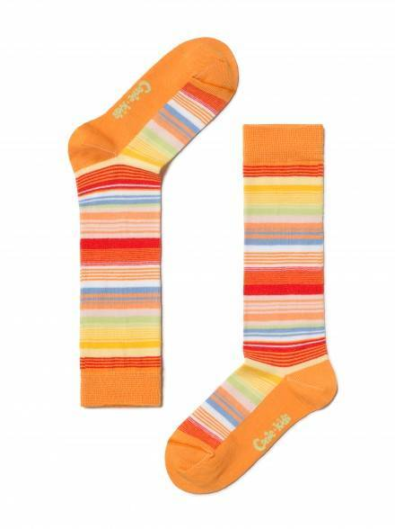 children's cotton knee-highs TIP-TOP 7С-21СП, размер 16, цвет orange