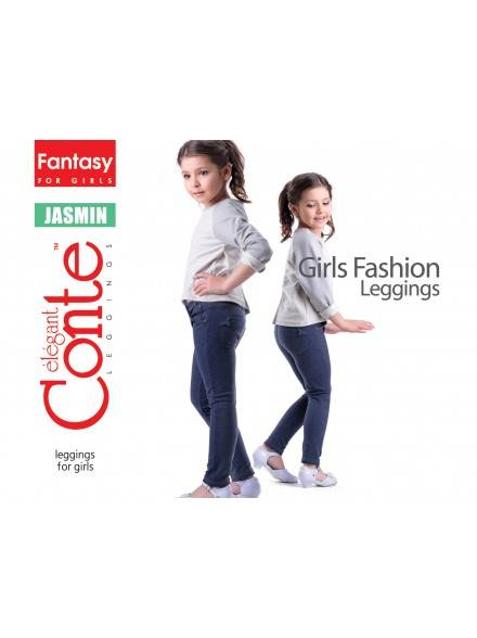 leggings for girls CONTE ELEGANT JASMIN 15С-098ДТСП, размер 110,116-56, цвет denim