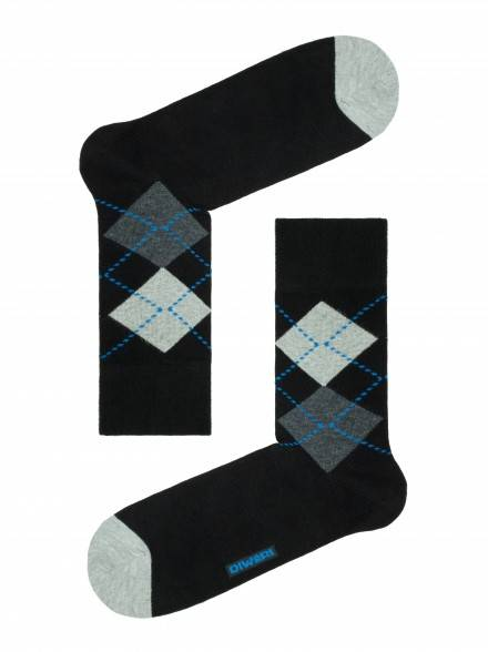 men's socks diwari HAPPY 15С-23СП, размер 25, цвет black-dark blue