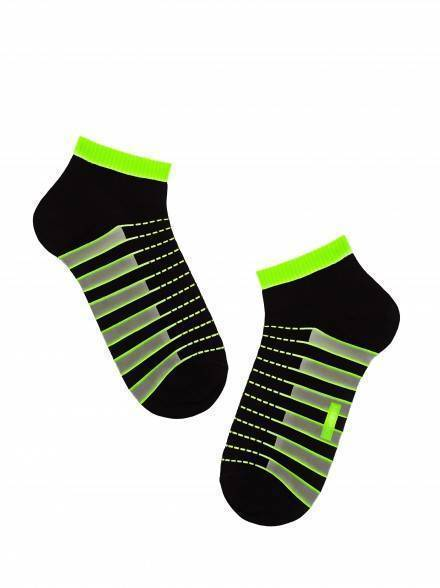 men's socks diwari ACTIVE 7С-37СП, размер 140-146, цвет black-lettuce green