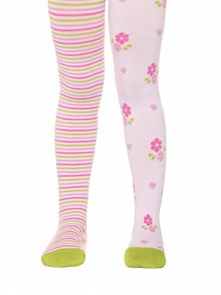 children's cotton tights TIP-TOP (cheerful legs) 14С-79СП, размер 62-74 (12), цвет light pink