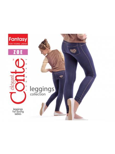 leggings for girls CONTE ELEGANT ZOE 14С-062ДЛСП, размер 122,128-64, цвет marino