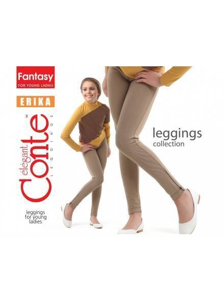 leggings for girls CONTE ELEGANT ERIKA 14С-069ДЛСП, размер 146-76, цвет nero