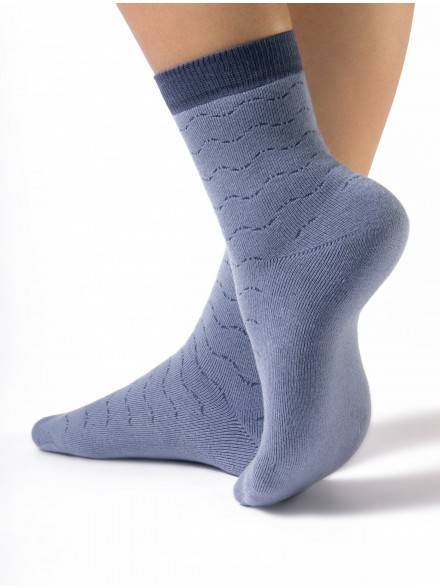 women's cotton socks COMFORT (terry) 7С-47СП, размер 23, цвет light denim