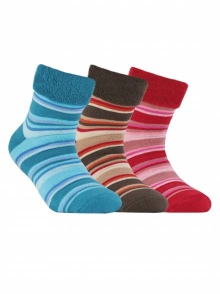 children's cotton socks SOF-TIKI (terry, with lapel) 6С-19СП, размер 20, цвет dark turquoise