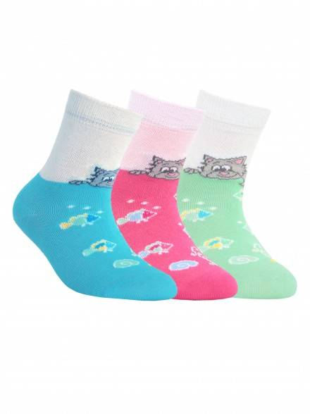 children's cotton socks TIP-TOP 5С-11СП, размер 12, цвет pink