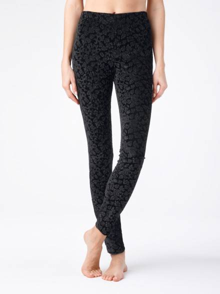 women's leggings CONTE ELEGANT ADELINA 14С-591ЛСП, размер 164-102, цвет nero