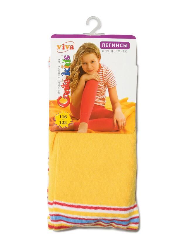 Leggings for girls CONTE-KIDS VIVA, s.116-122, 006 yellow - 2